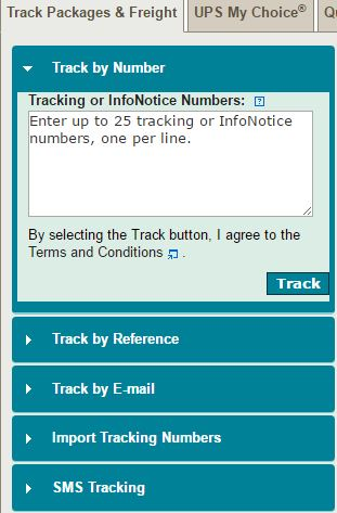 UPS tracking, UPS tracking number,