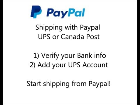 ups shipping, register with paypal for UPS